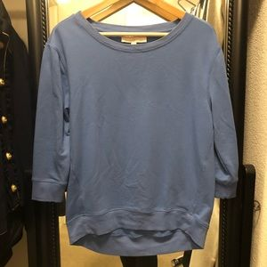 LOFT Sporty Blue Boyfriend Sweater
